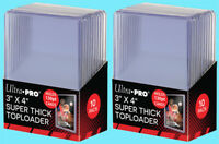 20 Ultra Pro 3x4 130PT SUPER THICK TOPLOADERS NEW Standard Size Sports Cards
