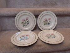 "4 BEAUTIFUL VINTAGE Theodore Haviland New York Garden Flower Plates (1/2)  7.5"""