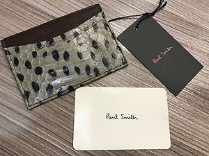 Paul Smith Credit Card Holder Whip-snake Leather 4x Credit Card Case