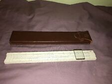 Vintage Frederick Post Company 1452W Slide Rule in Leather Case