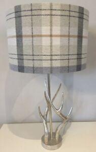 Handmade Lampshade Prestigious Textiles Cairngorm Oatmeal Tartan, Various sizes