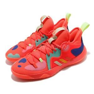 adidas Harden Stepback 2 II James Solar Red Yellow Blue Men Basketball FZ1077