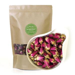 GOARTEA 100g Natural Red Rose Bud Dried Edible Petal Flower Chinese Herbal Tea