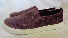 "Skechers Fashion Sneakers Size 7.5 M NWOB Plum Sparkle 1"" Platform Sole Nonskid"