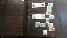 Aland stamp collection in glassine w/ 200 or so stamps / gutter pairs