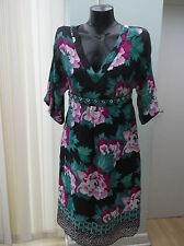 Monsoon Silk V-Neck Floral Dresses for Women