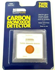 2 x CO Carbon Monoxide Detector Patches Alarm Indicator Home Car Office Safety