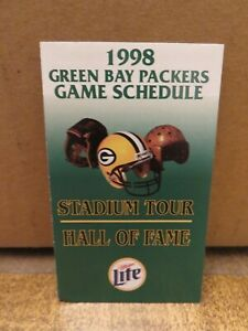 GREEN BAY PACKERS 1998 POCKET SCHEDULE