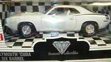 1/18  1970 Cuda, 440 six barrel,  Alpine White, Diamond Collectibles # 3, 1998 i