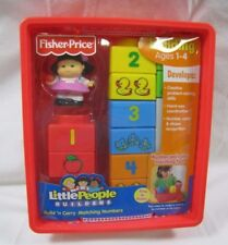 New! Fisher Price Little People BUILD 'N CARRY MATCHING NUMBERS Builders 2008