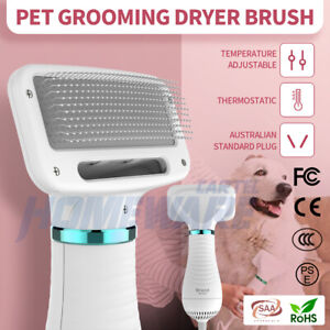 Pet Grooming Blower Comb Dog Cat Hair Dryer Fur Brush 300W Portable Low Noise
