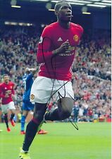 MANCHESTER UNITED HAND SIGNED PAUL POGBA 12X8 PHOTO PROOF 2.