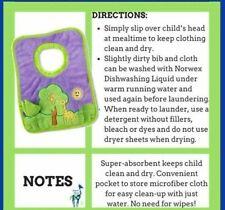 New listing Norwex tree toddler bib and cloth
