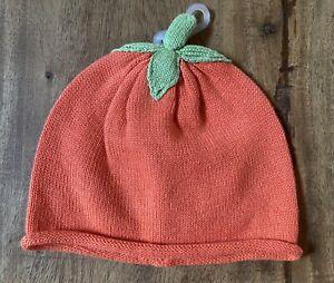 Gymboree Happy Harvest Knit Pumpkin Hat/Beanie 6-12 Months - New