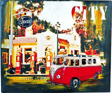 Blechschild Hippie-bus Vintage-deko 50x7cm Wandbild Wanddeko Metallbild