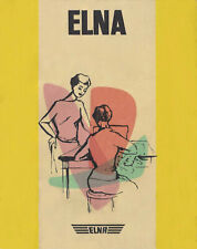 Elna Tan Supermatic Sewing Machine User Manual Instructions SPIRAL BOUND Reprint