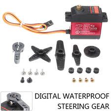 25KG Digital Servo Metal Steering Gear Waterproof High Torque Fr RC Car DC Motor