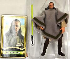 "Loose Qui Gon Jinn Mos Espa Disguise Force File Star Wars 3 3/4"" Figure 2000"