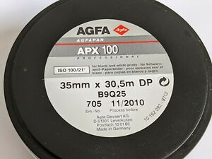 Agfa APX 100 Professional ISO 100 35mm X 30.5m Black and White Film Agfapan