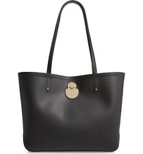 NWT LONGCHAMP Calvacade Smooth Lambskin Leather Shoulder Tote BLACK AUTHENTIC