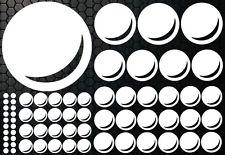 85-teiliges Retro Kreise Dots Sterne Auto Aufkleber Sticker Wandtattoo Blasen xx