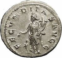Herennia Etruscilla Hostilian mother Silver Ancient Roman Coin Fertility i52230