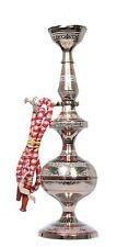 """16"""" Hookah - Brass Silver Luxury Plated Flavor Royal Vintage Hookah-Gift Home"""