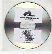 (GU516) Milk & Sugar, You Got Me Burnin' ft Ayak - 2010 DJ CD