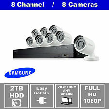 Samsung SDH-B74081 8 Channel 1080P DVR Security System, 8 HD Cameras, 2TB, RFB