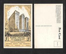 1950s FORD HOTEL BAY & DUNDAS STREETS TORONTO CANADA POSTCARD