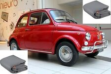 TELO COPRIAUTO TELATO FELPATO FIAT 500 ANNO 1971 IMPERMEABILE  ZIP LATO GUIDA