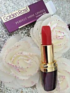 GOLDEN ROSE Lipstick Perfect Shine Moisturizer 225 Red Orange Val