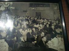 Antique Group Photo 1931 Passaic Nj Capt Battle Coughlan Elks Ball Room ~ Dinner