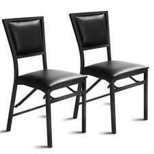 Set of 2  Folding Dining Chair Metal Frame Home Restaurant Furniture Portable
