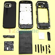 KEYPAD + BATTERY COVER + CHASSIS FULL HOUSING FOR NOKIA 5800 #H-433_BLACK