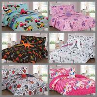 Kids Teens Twin / Full Comforter Bedroom Reversible Complete Set Boys & Girls