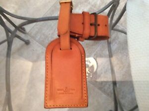 LOUIS VUITTON STRAP HOLDER and Address Tag for KEEPALL/BANDOULIERE Vachetta #A16