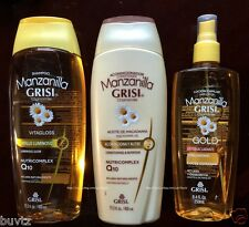 Manzanilla Grisi Chamomile Shampoo / Conditioner & Hair Lotion Nutricomplex Q10