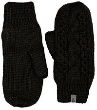 The North Face Women's Cable Knit Mittens Fleece Lined winter gloves Black L/XL