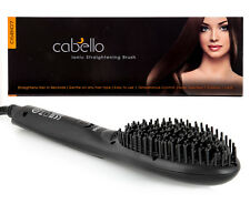 Cabello Ionic Straightening Brush - Black