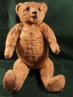 "Vtg German Teddy Bear Large 18"" Hump Back Mohair 1902 Jointed Plush"