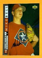 MIKE BELL *DECEASED* Texas Rangers 1994 UD Foil SIGNED / AUTOGRAPH Card