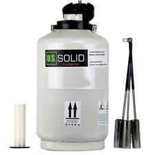 10L azoto liquido CONTENITORE criogenico serbatoio di stoccaggio DEWAR 6Pcs SECCHI degli Stati Uniti solido