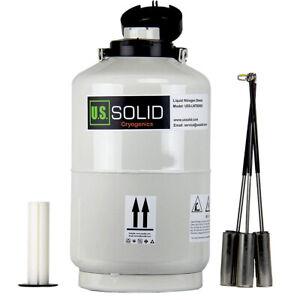 10L Liquid Nitrogen Container Cryogenic Tank Storage Dewar 6Pcs Pails U.S. Solid