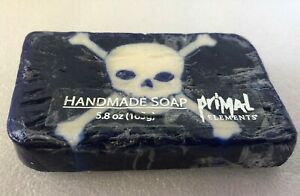 Primal Elements Handmade Soap w Skull & Crossbones Halloween