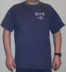 Meridian T-Shirt L - XL Celebrity Cruises Blau Made in the U.S.A. Design Shirt
