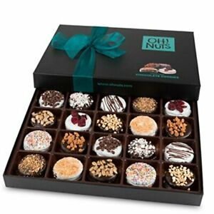 Cookies Gift Basket, Gourmet Christmas Holiday Corporate Food Gift in Chocolate