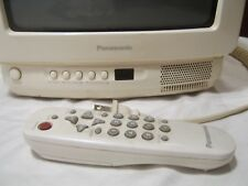 "Panasonic TV 8"" screen color vintage with remote"