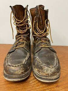 Red Wing Men's 877 DISTRESSED Heritage 8-Inch Moc Toe 100 Year Anniversary 9D