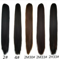 Long Straight Claw Clip on Ponytail Real Thick Pony Tail Clip in Hair Extensions